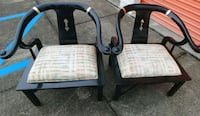 Black and gold Oriental chairs Largo