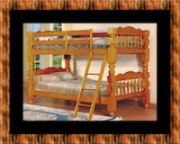 Wooden twin bunkbed frame with 2 mattress Capitol Heights, 20743