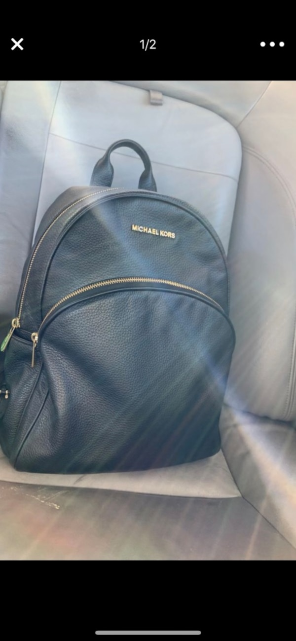 fab105276dd5 Used black Michael Kors leather backpack for sale in Mansfield - letgo