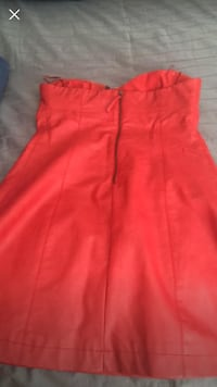 red zip-up sleeveless dress Toronto, M9R 1V9
