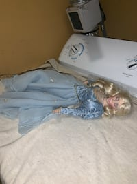 "Sleeping beauty Franklin Heirloom 20 "" porcelain doll Jessup, 20794"