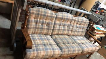 Beautiful wood framed couch