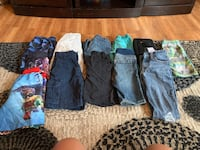 Boys clothes sizes ranging from 4-7 shirts and shorts $1.00-2.00 individually no stains great condition on shirts some wear and tear on shorts/pants  Ankeny, 50021