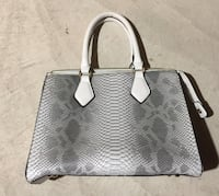 women's gray leather tote bag Hamilton