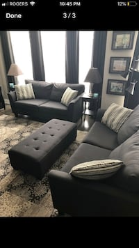 2 quality black couches and ottoman Mississauga, L5R 0E9