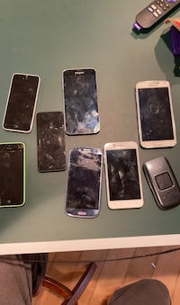 Working iphones and samsung galaxy phones