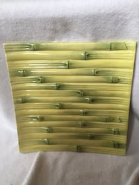 Tommy Bahama bamboo style plate.  Yellow and green  Largo, 33771