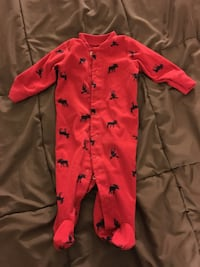 Sleeper - moose themed - snaps - Size 3 months  Falls Church