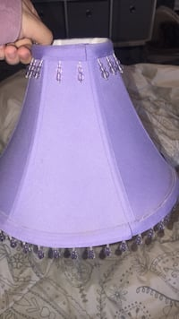 Purple lampshade with beading detail  Hagerstown