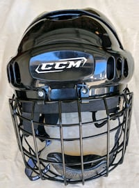 CCM Hockey Helmet with Bauer Face Cage, barely wor