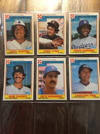1984 Ralston Purina and 1987 M&M full set baseball cards