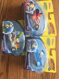 """3 collectable Disney Junior die cast """"Mickey and the Roadster Racers"""" cars. 3 sets available Markham, L3T 7P7"""