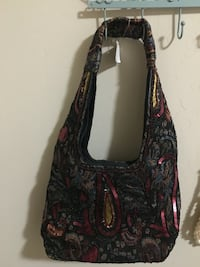 black and red sequinned paisley print hobo bag Bakersfield, 93311