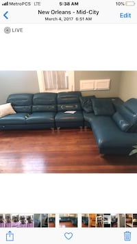 black leather sectional sofa screenshot New Orleans, 70113