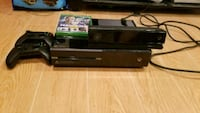 black Xbox One console with controller and game cases Washington, 20001