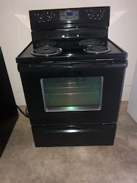 black 4-burner gas range oven Herndon, 20171