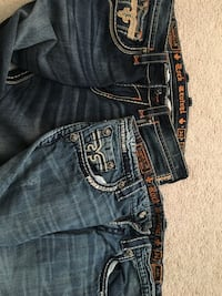 2 pairs of men's Rock Revival jeans size 34 Frederick