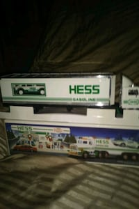 white and green Hess truck toy box Tampa, 33604