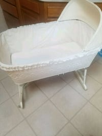 White wicker bassinet  Canton, 48188