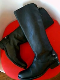 FRYE LEATHER RIDING BOOTS BLACK SIZE 6 FITS 5 ALSO Vancouver, V6G 1V9