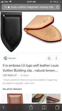 Louis Vuitton money clip Vancouver, V5V 3N6