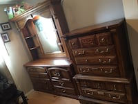 3piece real solid wood dresser set Calgary, T2W