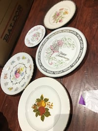 $10 for 5 England Japanese plates 506 km