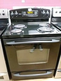 Black GE Profile Coil Top Stove Woodbridge, 22191