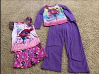 Trolls Girls PJs Size 6-8 (see description ) Walnut Cove, 27052