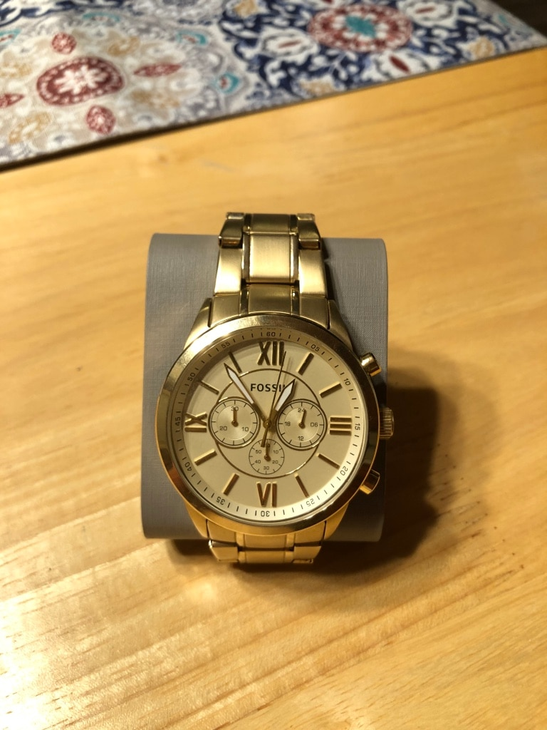 Photo Gold Fossil watch