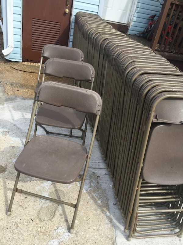 Used 100 Folding Chairs For In