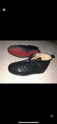 Men's black spike louboutin size 9 comes with box and shoe bag Toronto, M9V