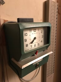 Time in clock with card slot
