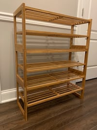 2-Tier Bamboo Stackable Shoe Shelf (x3) Arlington, 22203