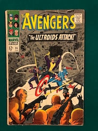 The Avengers #36 The Ultroids Attack Toronto, M8Z 2K1