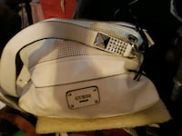 large white guess bag