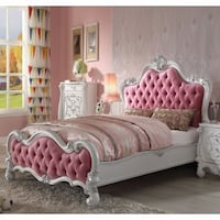 Full Pink Button Tufted Bed Only San Diego, 92126