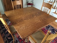brown wooden square dining table Providence, 02903