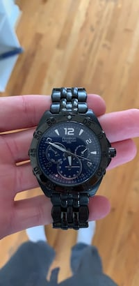 round black chronograph watch with link bracelet Gainesville, 20155