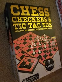 3 in 1 Game Set: CHESS, CHECKERS, & TIC TAC TOE Fort Myers, 33966