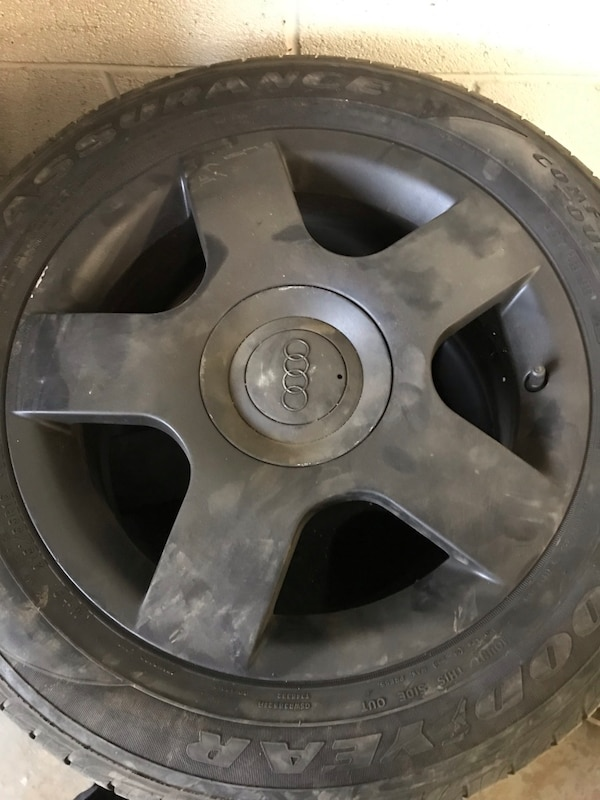 Audi A4 rims and tires 0