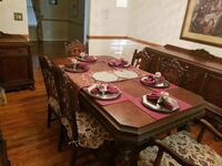 10 pc Antique Cherry Wood Dinette Set Washington, 20515