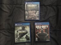 Call of duty PS4 (WWII, infinite warfare, black ops 3) Williston, 05495