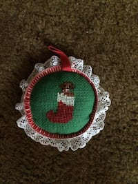 Puppy in Christmas stock cross stitch