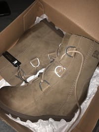 Pair of sorel brown suede boots London