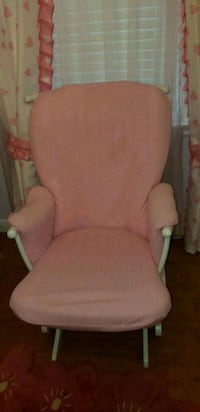 pink fabric padded glider chair Toronto, M1R 1E5