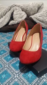 Red valvet wedding casual party wedges heels Silver Spring, 20904