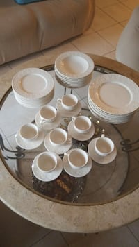 Coventry Stoneware dining set 40 pc, ( serving for Miami