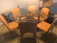 Glass Dining Table w/ 6 Chairs Carrollton, 23314