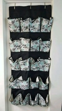 white and black floral over the door shoe organize Torrance, 90503